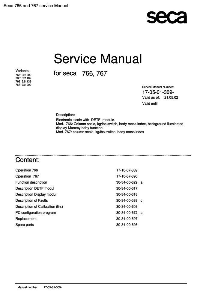 Seca 766 And 767 Service Manual Pdf