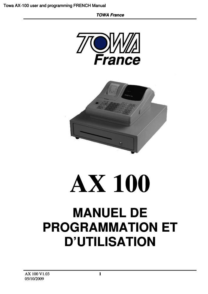 towa ax 100 user and programming french manual pdf the checkout rh the checkout tech com towa ax 100 manual pdf towa ax 100 manual free
