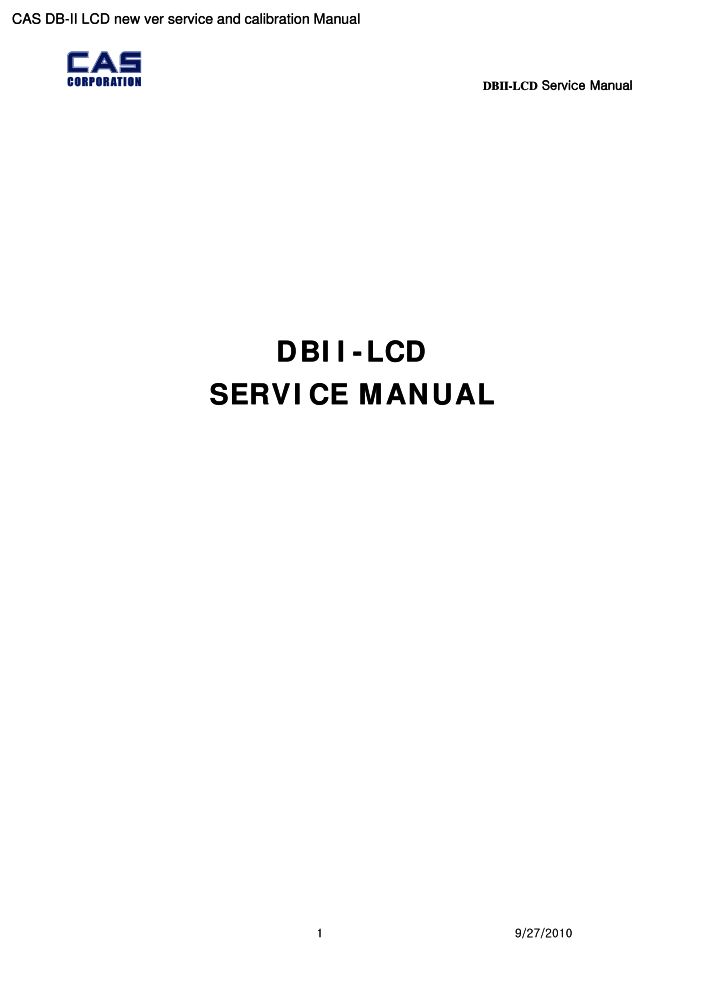 cas db ii lcd new ver service and calibration manual pdf the rh the checkout tech com DB Regio DB 5S