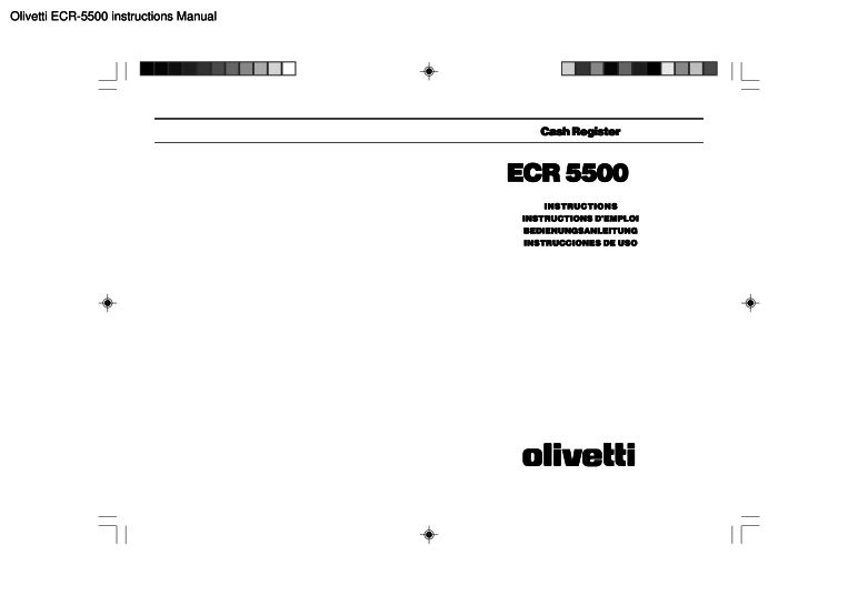 Olivetti Ecr 5500 Instructions Manual Pdf The Checkout Tech Store