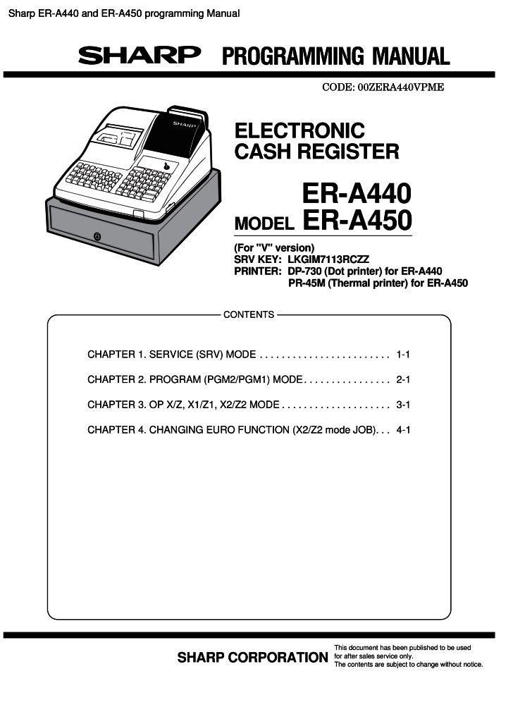 sharp er a440 and er a450 programming manual pdf the checkout tech rh the checkout tech com A440 Conspiracy A440 Tone