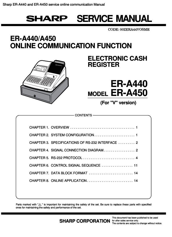 sharp er a440 and er a450 service online communication manual pdf rh the checkout tech com A440 Tuning Fork A440 Sound