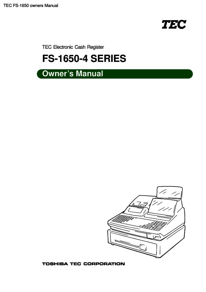 Tec cash register manual pdf.