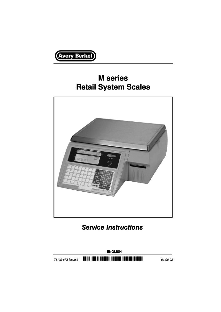avery berkel m series service manual pdf the checkout tech store rh the checkout tech com Avery Berkel 6708 Scale Model Avery Berkel 6712