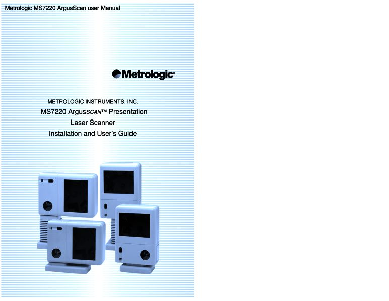 metrologic instruments user manual
