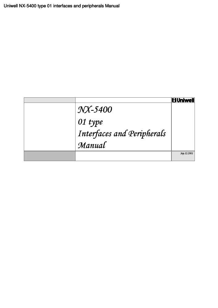 uniwell cash register nx 5400 manual