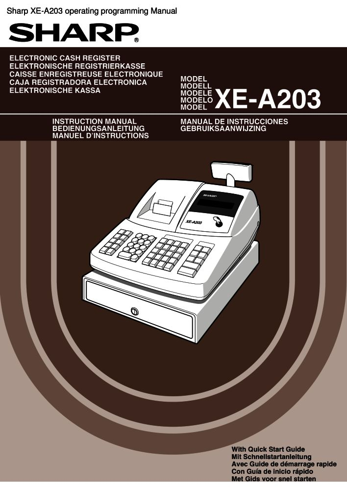 sharp xe a203 operating programming manual pdf the checkout tech rh the checkout tech com Sharp XE A101 Instruction Manual buku manual cash register sharp xe-a203