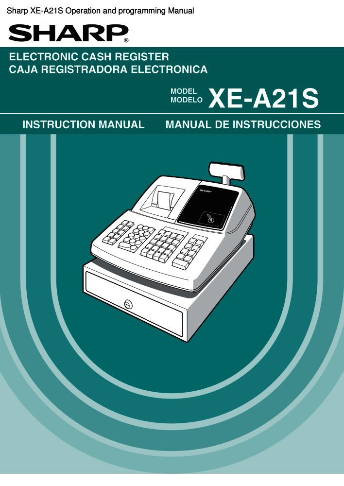 sharp xe a21s operation and programming manual pdf the checkout rh the checkout tech com Sharp XE A23S Cash Register sharp xe-a21s user manual
