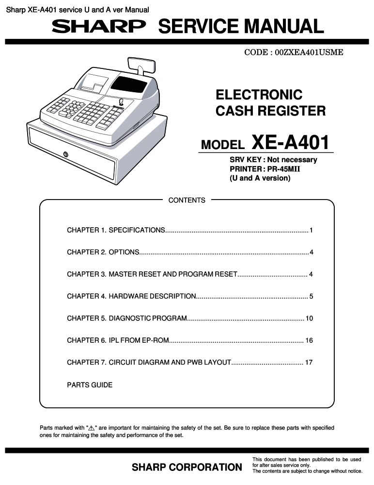 Sharp xe-a401 electronic cash registers at cash register store.