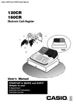 Casio 120cr b manual and quick set up guide.