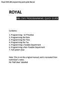 Cashregisterstore. Com > royal 310dx > programming manual royal 310dx.